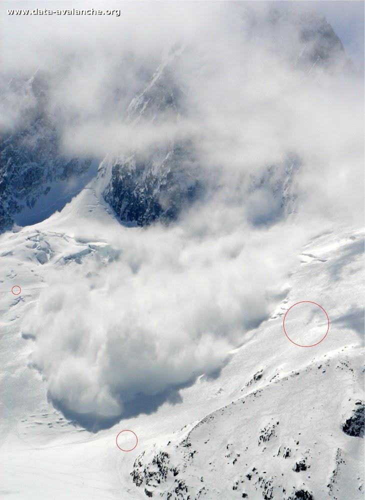 Avalanche Mont Blanc, secteur Aiguille Verte, Couloir Cordier - Photo 1