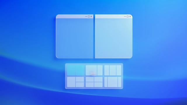 Snap di Windows 11 dengan klik kanan pada tombol Maximize
