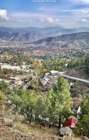 Beautiful view from the back side of Shimla mountain, Abbottabad.