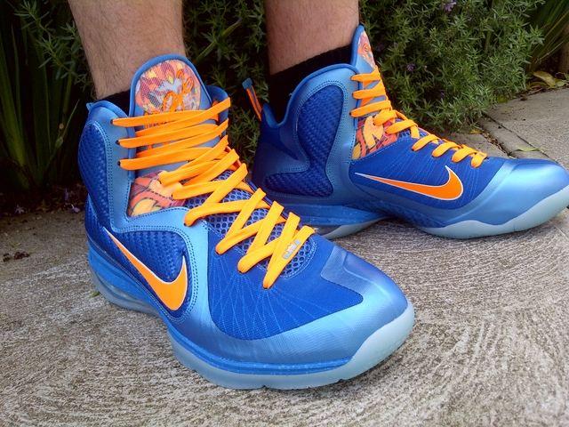 on sale d03cd 15b82 Nike LeBron 9 8220China8221 Onfoot Pics wOrange amp Blue Laces ...