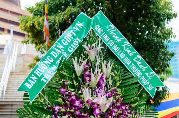 Ban Hướng Dẫn GĐPTVN Trên Thế Giới kính viếng Giác Linh Đại Lão Hòa Thượng Thích Giác Nhiên tân viên tịch