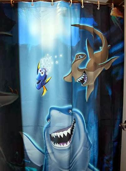 finding nemo bathroom shower curtain