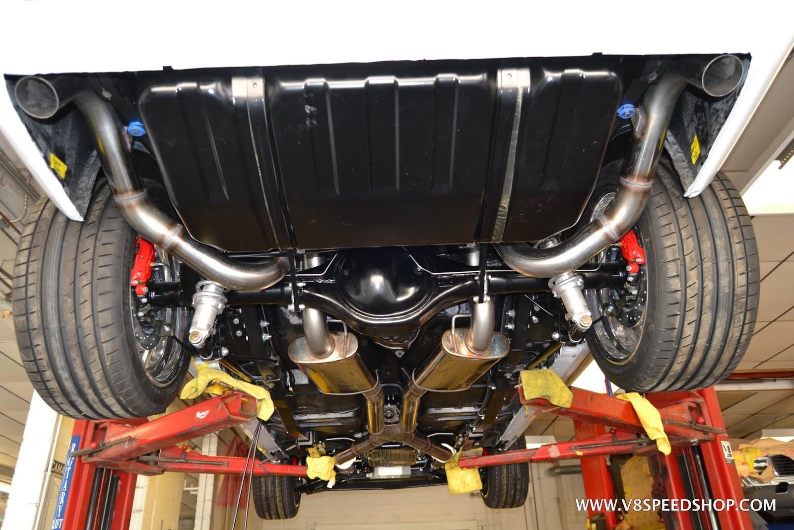 Custom Exhaus at V8 Speed & Resto Shop