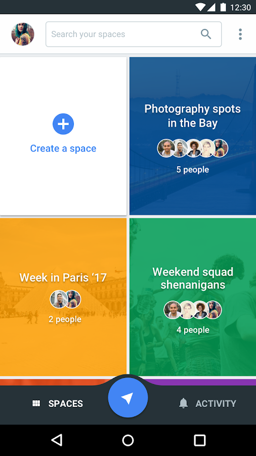 Spaces - Find & Do with Google- screenshot