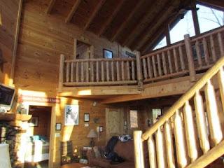 log cabin livingroom