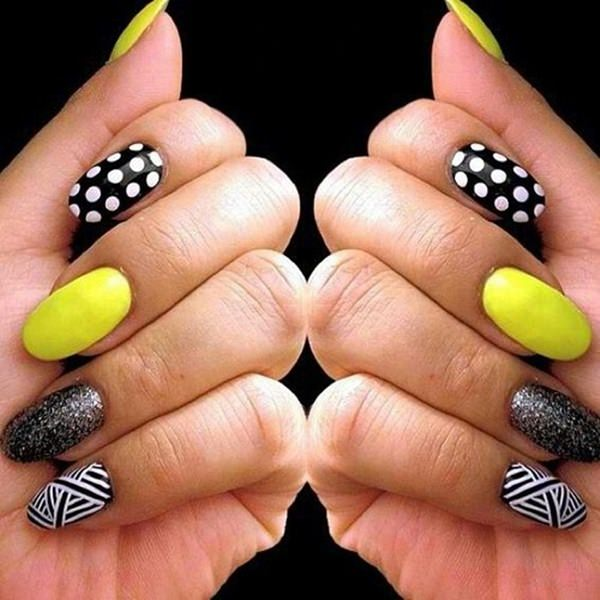 top 30 amazing neon nail designs for 2018