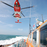 Helicopter exercise with Portland Coastguard and all-weather lifeboat