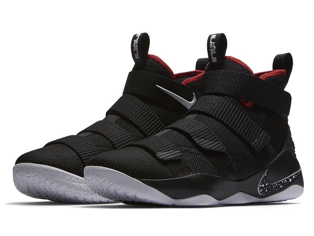 ed5ad837307ba ... Available Now Nike LeBron Soldier 11 Black and Red ...