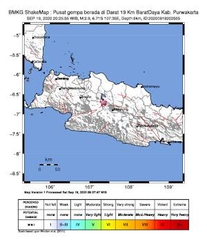 Gempa Bumi Tektonik M2.9 di Purwakarta, Tidak Berpotensi Tsunami