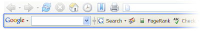 A screen shot of Google's Toolbar