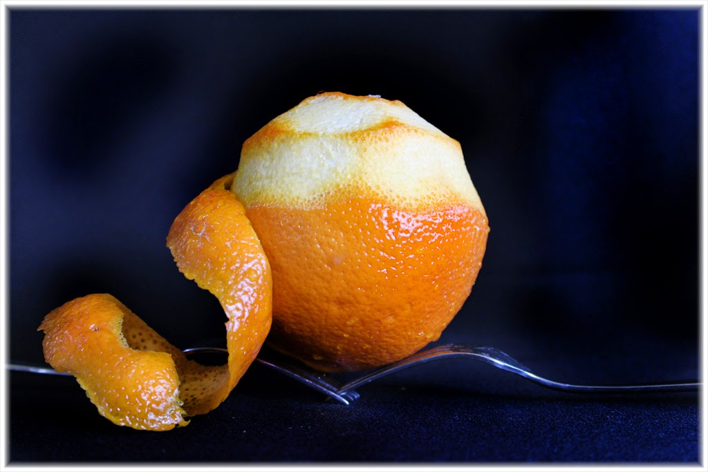 """Peeled Orange"" by Barbara Lippert - 3d Place A Special"