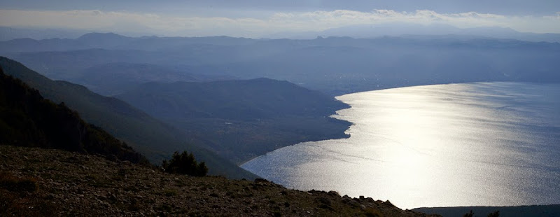 26. Lake Ohrid. View on Albania.