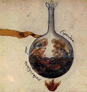 Volatilisation Through Liquid From Cabala Mineralis Manuscript, Hermetic Emblems From Manuscripts 1
