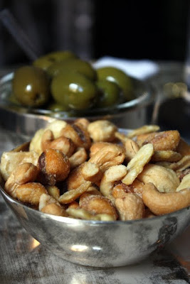 Bar nuts and olives at the Connaught hotel Bar in London