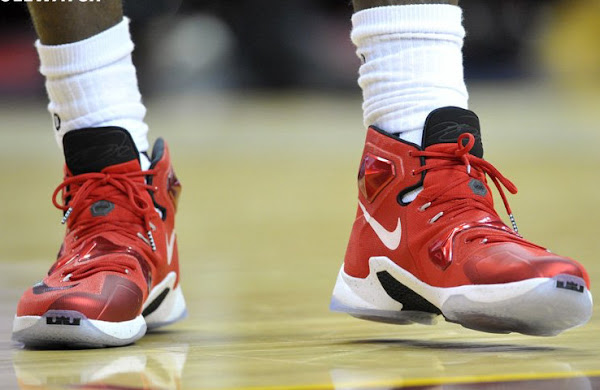 Take a Closer Look at LBJs On Court Nike LeBron XIII PE