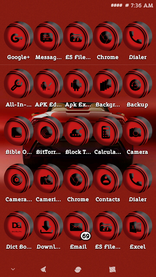 Linoleum Red Icons Pack- screenshot
