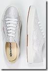 Superga classic silver sneaker