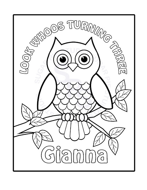 Paper Owl Template Coloring Page Photo
