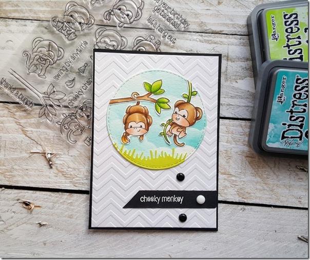 card con Copic e Distress Oxide by Gothic and Lolita style