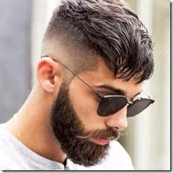 Fade with bangs mens haircut