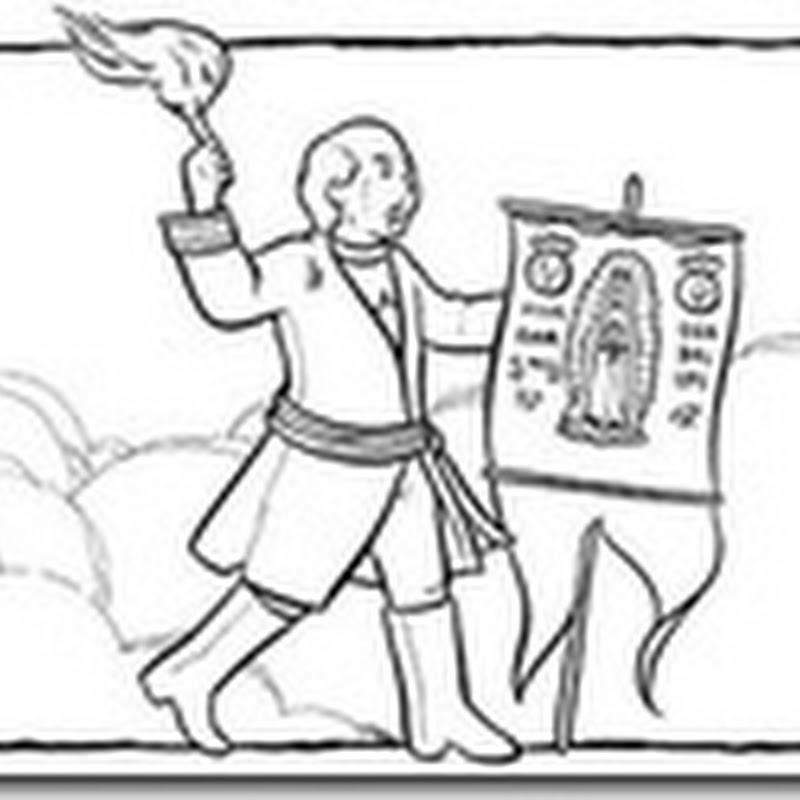 Miguel Hidalgo dibujos colorear