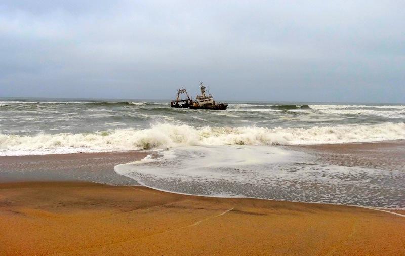 A shipwreck on the skelaton coast of Namibia