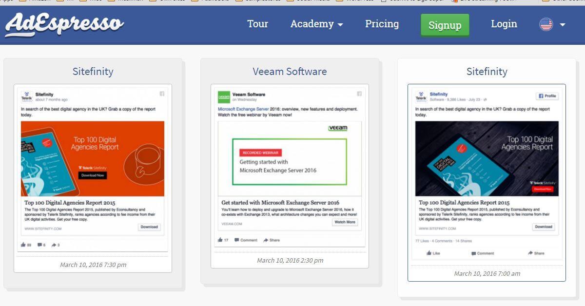 FB Ads Lead Generation Desktop Samples