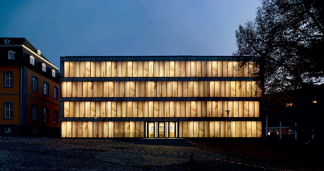 Werden, Essen, Germania: Folkwang Library by Max Dudler
