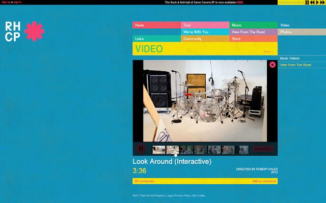 *色彩變化豐富的搖滾樂團網站|Red Hot Chili Peppers Web Site 8
