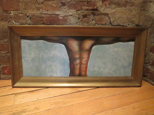 Signed Painting by Osvaldo Lugo - Study for a Crucifixion