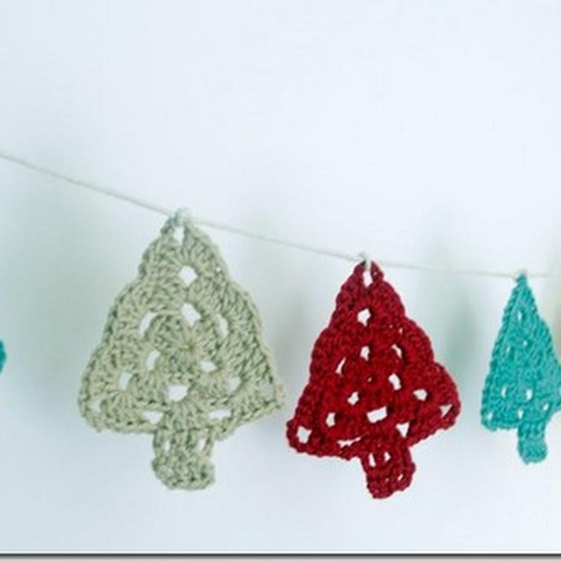 Adornos, árboles de Navidad crochet