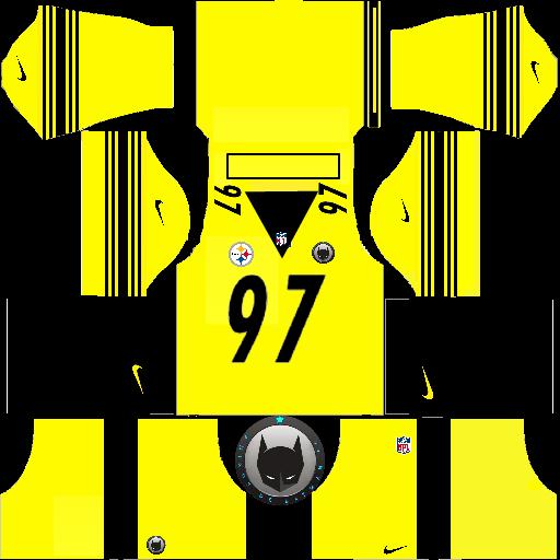 big sale 28ed7 9c0df AMIGOS DE BATMAN F.C. : Pittsburgh Steelers Rush Yellow DLS Kit