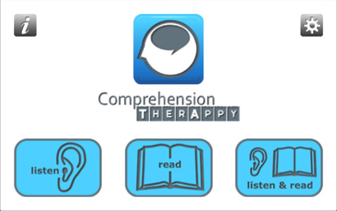 Comprehension TherAppy Menu icon