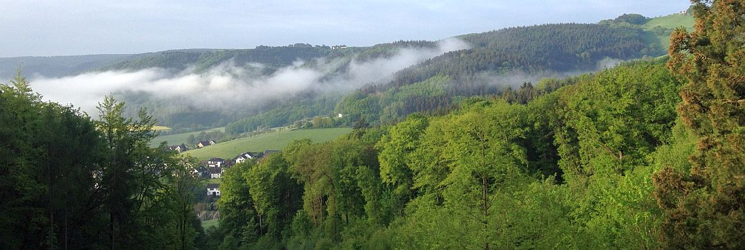 Wolken am Morgen im Wied-Tal