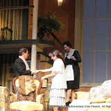 John Massaroni, Benita Zahn and Jean Carney in THE ROYAL FAMILY (R) - December 2011.  Property of The Schenectady Civic Players Theater Archive.