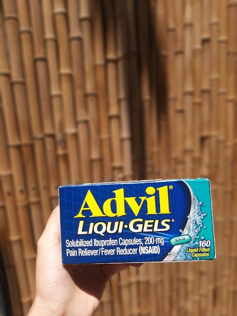 (Hình ảnh: Viên uống giảm đau, hạ sốt Advil Liqui Gels 200mg hộp 200 viên của Mỹ)