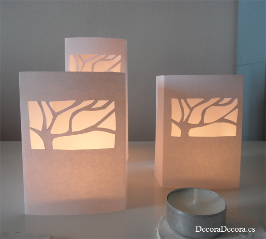 Candelabros de papel - Como hacer candelabros ...