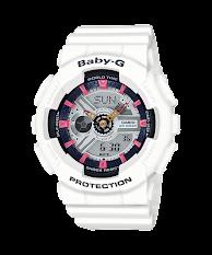 Jam Tangan Wanita Warna Putih Casio Baby-G  Casio Baby G : BA-110TX-7A