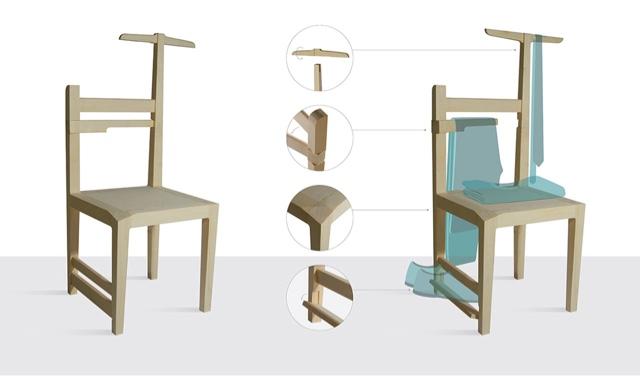 Per filo e per di segno design la sedia trasformista for La sedia nel design