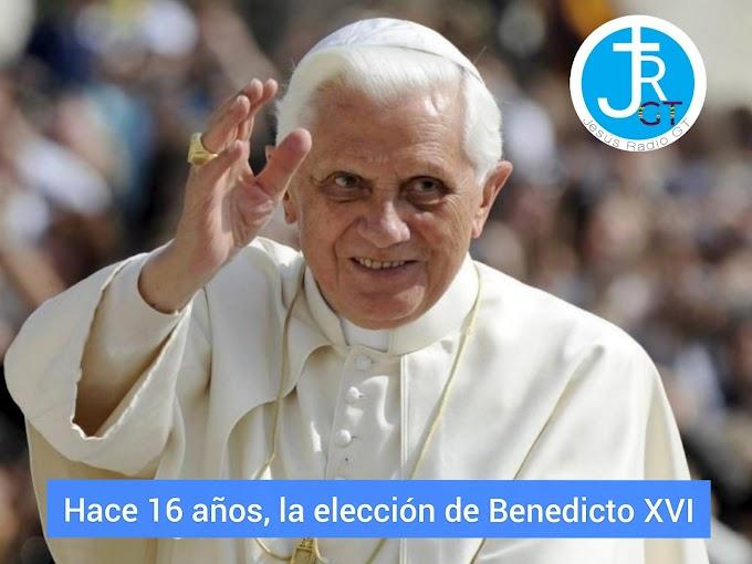 Hace 16 años, la elección de Benedicto XVI