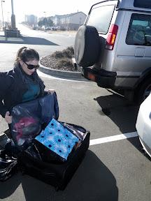 Anna, doing a little parking lot repacking
