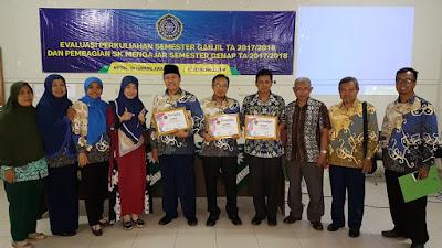 Evaluasi Perkuliahan dan Pembagian SK Mengajar Semester Genap TA 2017/2018 Universitas Muhammadiyah Metro
