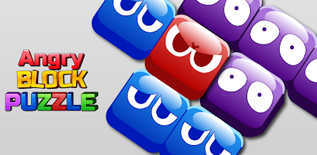 Angry Block Puzzle APK poster