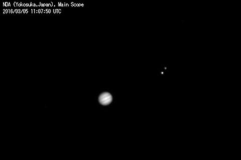 木星とガニメデとエウロパ