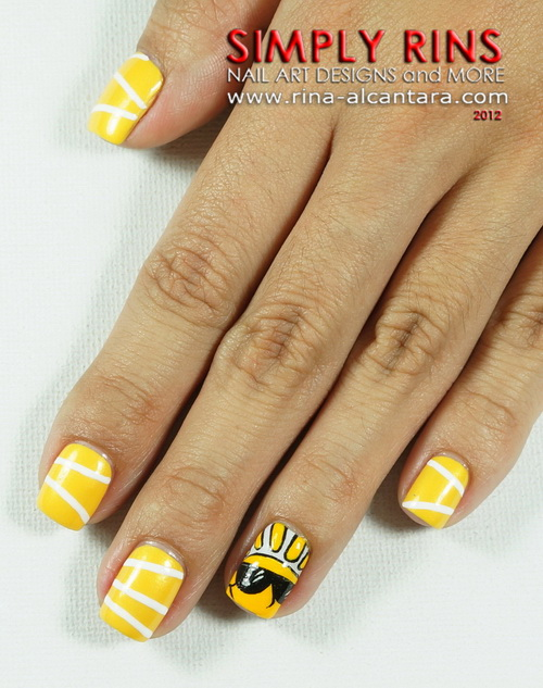 Here Comes the Sun Nail Art Design - Nail Art: Here Comes The Sun Simply Rins