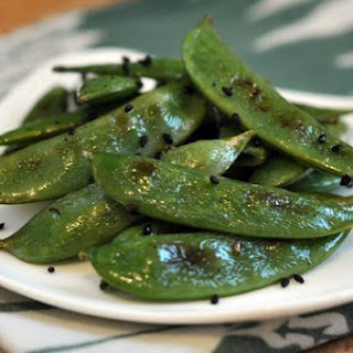 Sesame Roasted Snap Peas