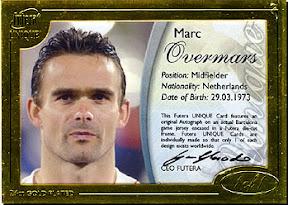 futera World Football 2004 Marc Overmars 1of1 直筆サインジャージ