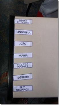 personagens em ordem alfabética