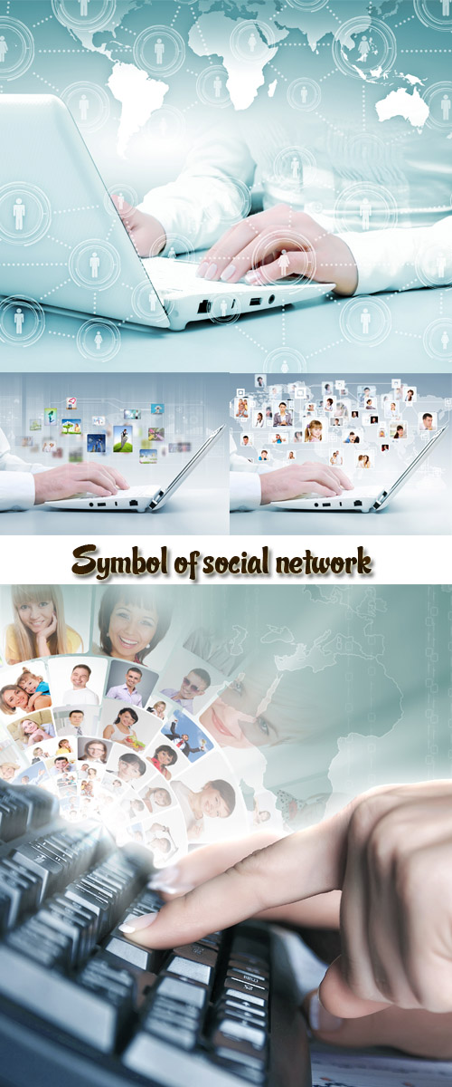 Stock Photo: Symbol of social network