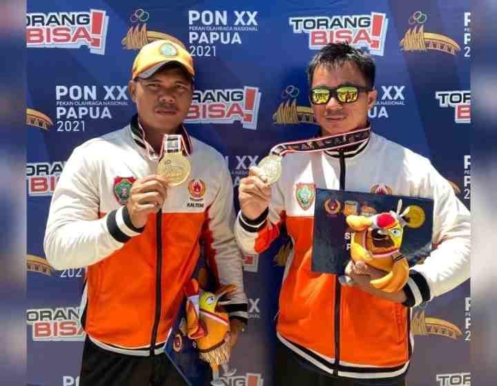 Luar Biasa, Dua Personel Polda Kalteng Sabet Medali Emas di PON Papua 2021